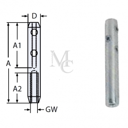 Końcówka skręcana 8451 linka 3/4mm LG wew.