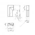 PROFIL KOŃCOWY, LEWY DO PROGU ALUMINIOWEGO TGMK-02L PC