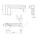 PROFIL KOŃCOWY, LEWY DO PROGU ALUMINIOWEGO (boczny) TGMB-01L PC