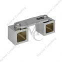 Łącznik regulowany, katowy do relingów kwadratowych LRK1 15 mm