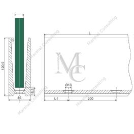 Profil bazowy do pos. 1970AL Elox 121x45x2.5m