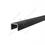 Profil czarny zabezpieczający krawędź szkła U 1007 AL18x12x2mm