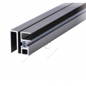 Zestaw uszczelniający do kabin prysznicowych złożony z profila aluminiowego z magnesem i uszczelki magnetycznej 2300mm